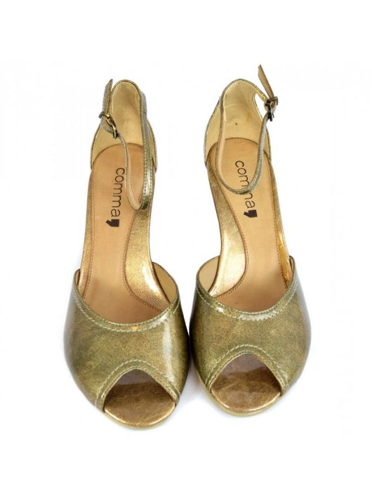 s. Oliver telitalpú, aranybarna női cipő