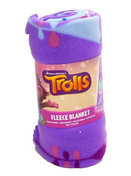 Trollok lila polár gyermek takaró – 100x150 cm